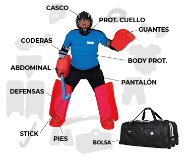Material Portero Hockey Hierba